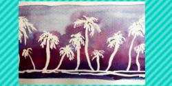 palmiers violets
